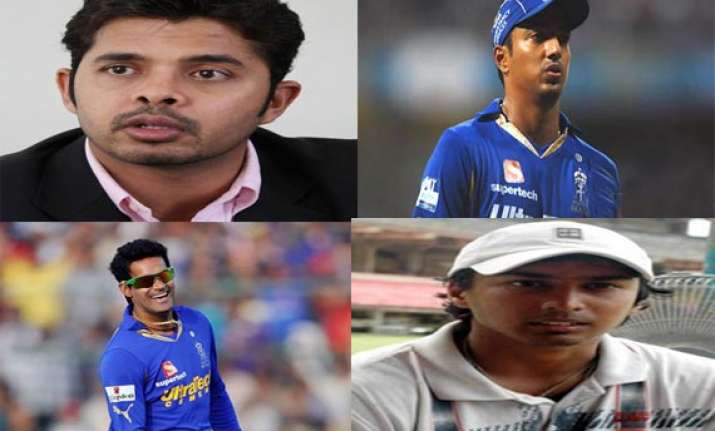ipl spot fixing a complete list of sreesanth other players