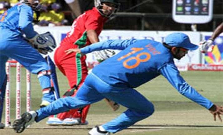 zimbabwe odi series india takes 3 0 lead win by 7 wickets