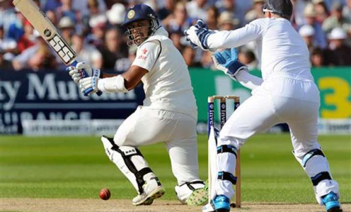 ind vs eng india reach 84 for one at tea lead england by 60