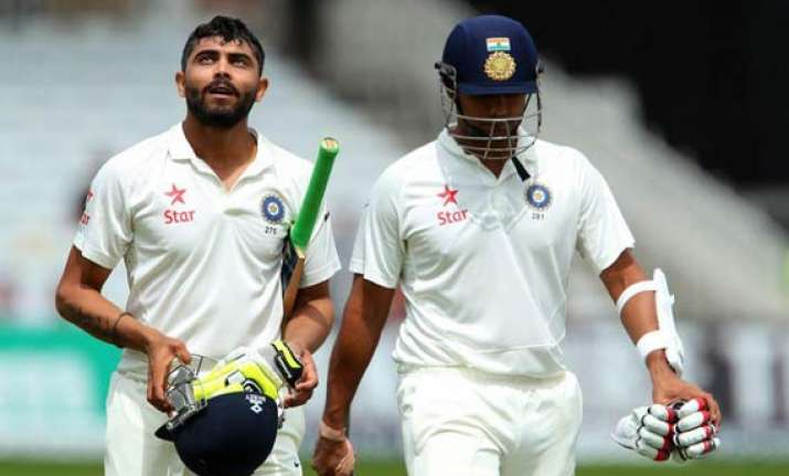 ind vs eng jadeja binny take india to safety after broad s