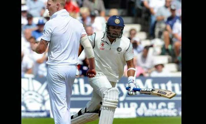 ind vs eng vijay digs in to take india to 177/3 at lunch