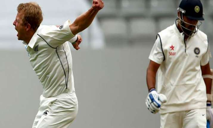 india new zealand first test india finishes day 2 on 130 4