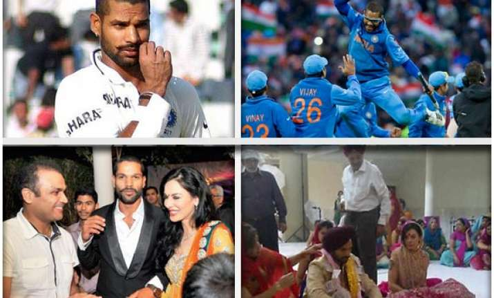 india s golden batsman shikhar dhawan the man of the moment