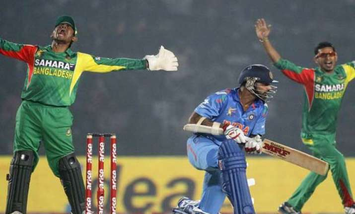 india to play bangla in three odis between june 15 19