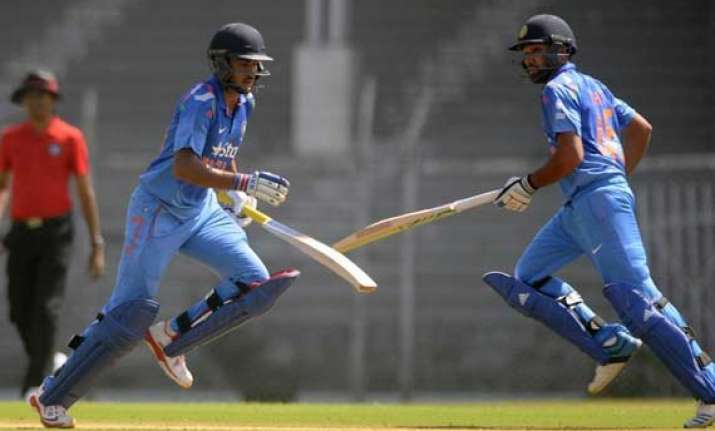 rohit manish lift india with impressive tons in warm up game