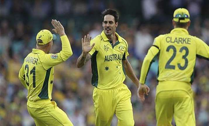 world cup 2015 mitchell johnson could be sledger in chief