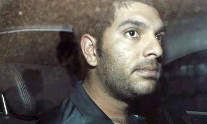 yuvraj down with dengue out of monday s match