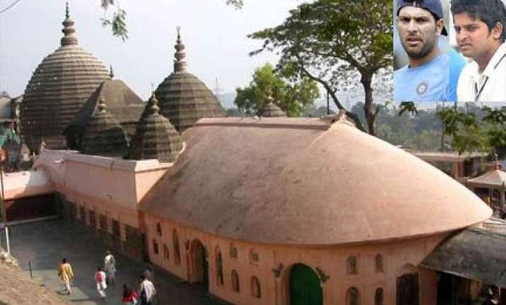 yuvraj sreesanth raina visit kamakhya temple