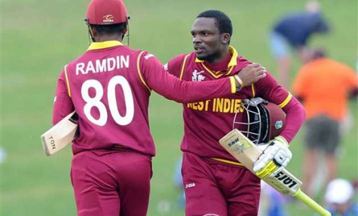 world cup 2015 west indies beat uae by 6 wickets stay in