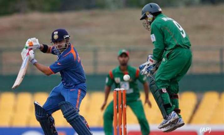 sehwag gambhir guide india to easy win over bangladesh