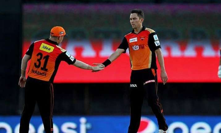 ipl 8 rcb all out for 166 after boult takes 3 wickets in