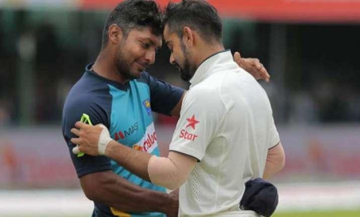 kohli and sangakkara a touching display of sportsmanship