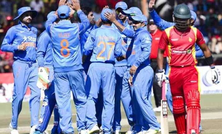 india crush zimbabwe by 62 runs to seal odi series 2 0