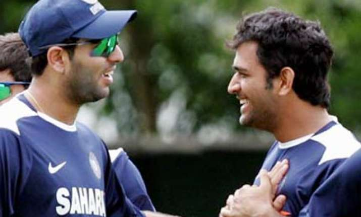 dhoni non committal on yuvraj playing on sunday
