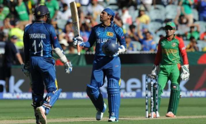 world cup 2015 sri lanka posts 332 1 vs bangladesh