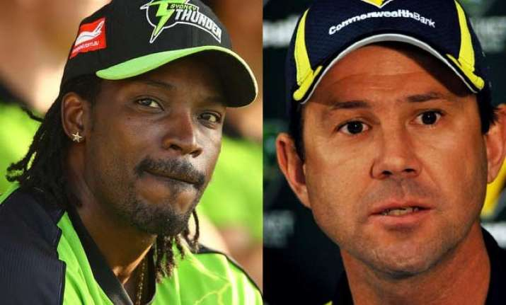 ricky ponting slams chris gayle s batting terms it as