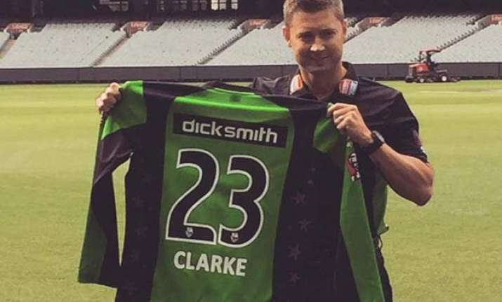 michael clarke to captain melbourne stars in big bash