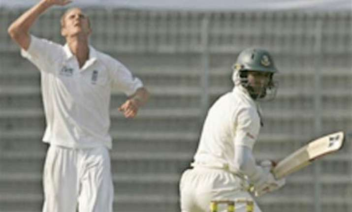 bangladesh post 330 for 8 against england in dhaka test
