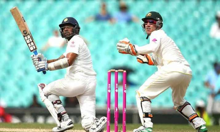 aus vs ind india 73 1 at lunch on 5th day of 4th test