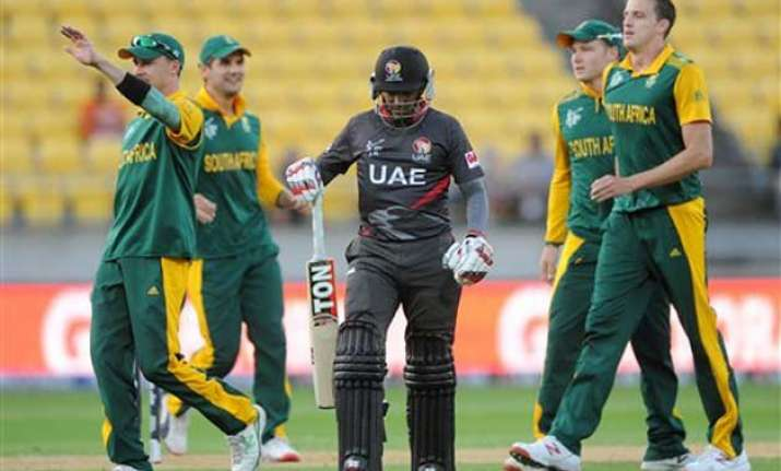 world cup 2015 south africa vs uae scoreboard match 36