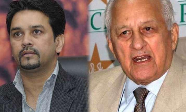pakistan cricket board chief meets bcci secretary in delhi