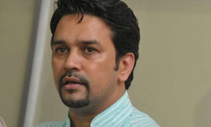 atmosphere not conducive for indo pak cricket anurag thakur