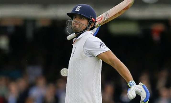 eng vs nz alastair cook ton helps england lead new zealand