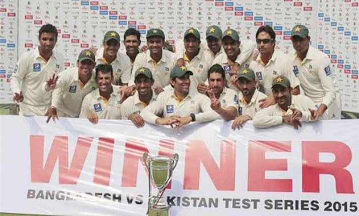 pakistan hand bangladesh huge defeat win series 1 0