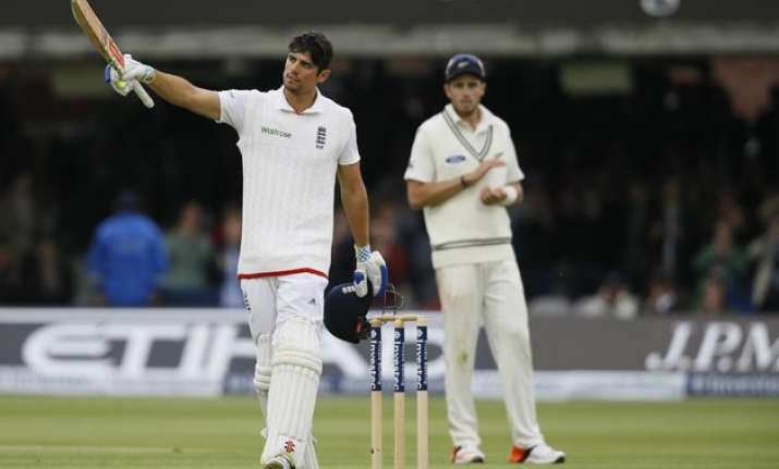 eng vs nz cook stokes tons drive england lead to 295 on day