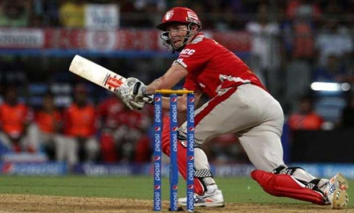 ipl 8 bailey s fifty lifts kings xi to a challenging 177/5