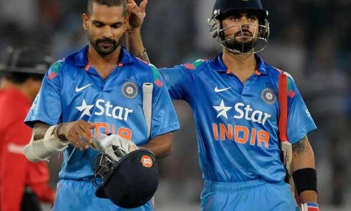 kohli steady at 4th dhawan rises to 6th in icc rankings