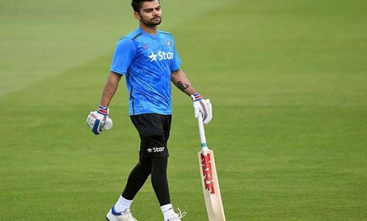 world cup 2015 sporting a mohawk kohli feasts on spinners