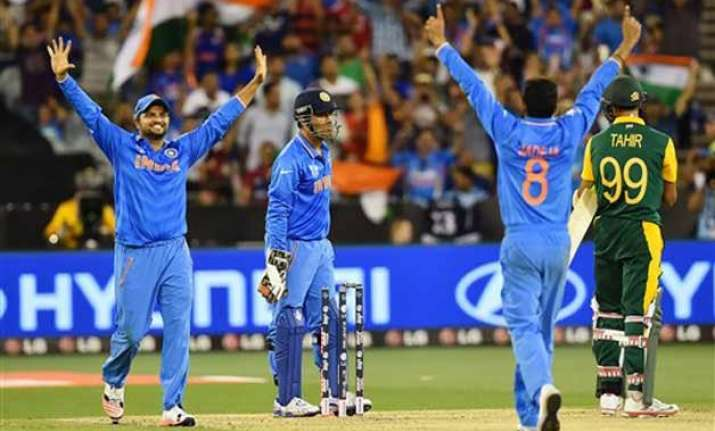 world cup 2015 india beats south africa by 130 runs in pool