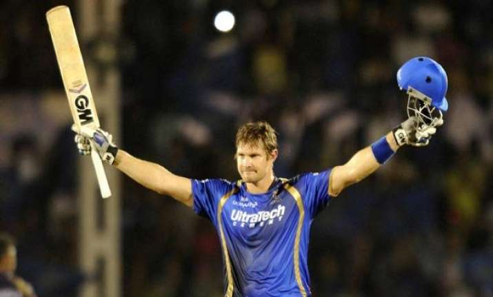 ipl 8 ton up watson powers rr to 199/6 against kkr in must