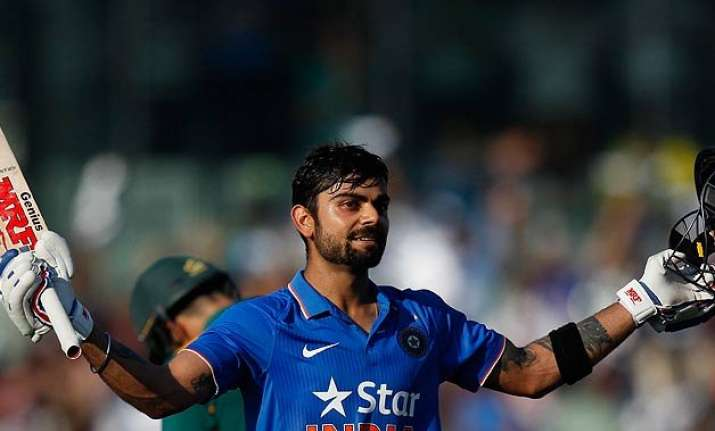 4th odi virat kohli ton drives india to 299/8 against south