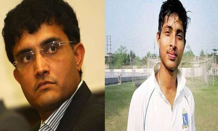 sourav ganguly gives away his bcci pension to ankit keshri