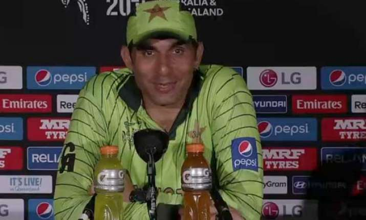 world cup 2015 its pleasing to get a win says misbah