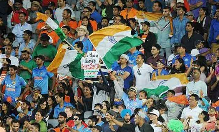 world cup 2015 turn mcg into a sea of tricolour dhoni urges