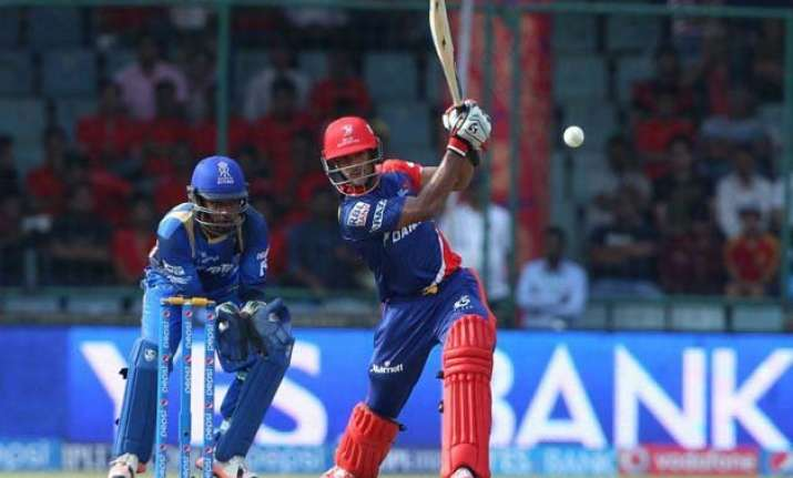 ipl 8 daredevils post 184/3 against rajasthan royals