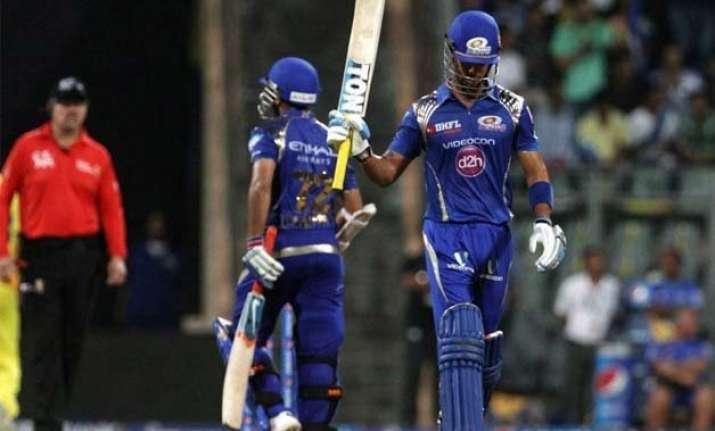 ipl 8 simmons pollard power mumbai to 187/6 against chennai