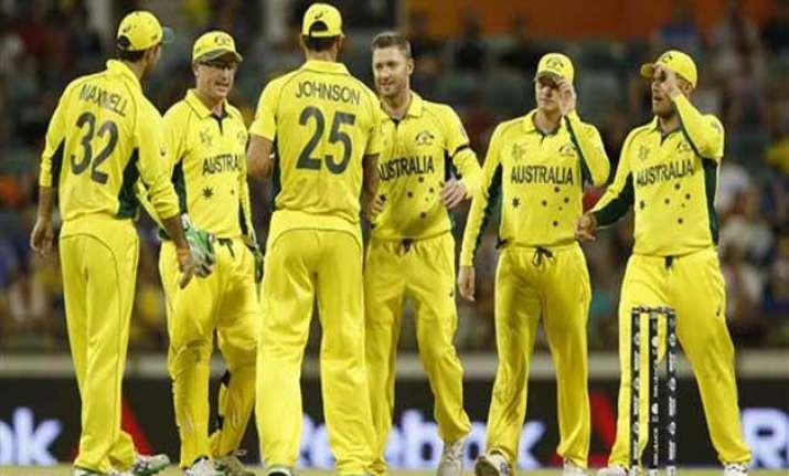 world cup 2015 australia to face sri lanka for second spot