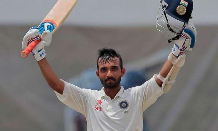 2nd test day 4 ajinkya rahane ton helps india extend lead