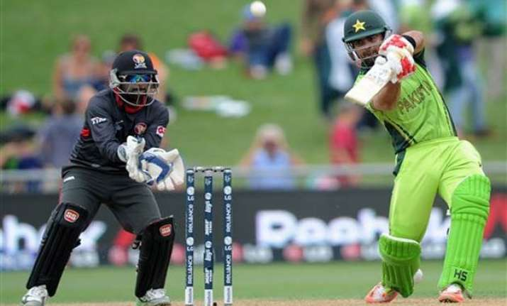 world cup 2015 pakistan vs uae scoreboard match 25