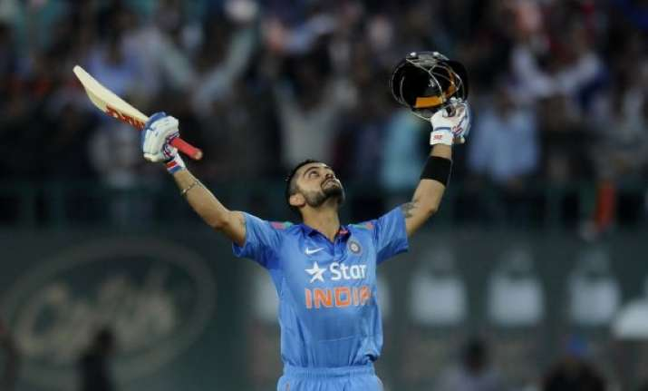 kohli ton propels india to 330/6 vs west indies
