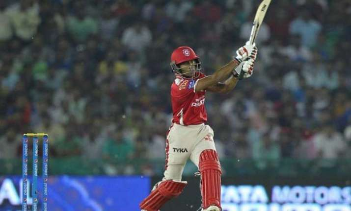 ipl 8 sizzling saha steers kings xi to 106/6 in 10 over