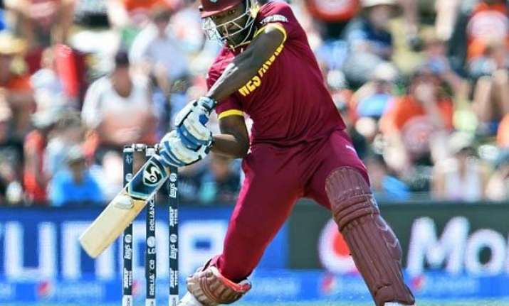 world cup 2015 west indies win toss elect to bat vs zimbabwe