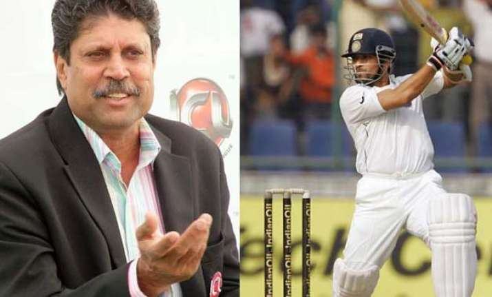 sachin did not know how to make double triple tons kapil dev