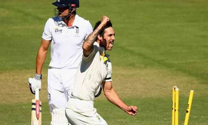 alastair cook challenges pacer mitchell johnson to repeat