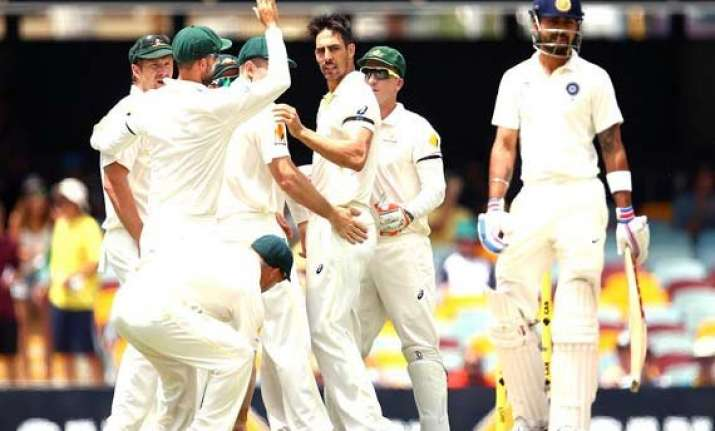aus vs ind india all out for 224 sets australia 128 to win