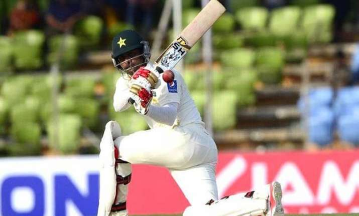 ban vs pak hafeez hits a career best 224 as pakistan